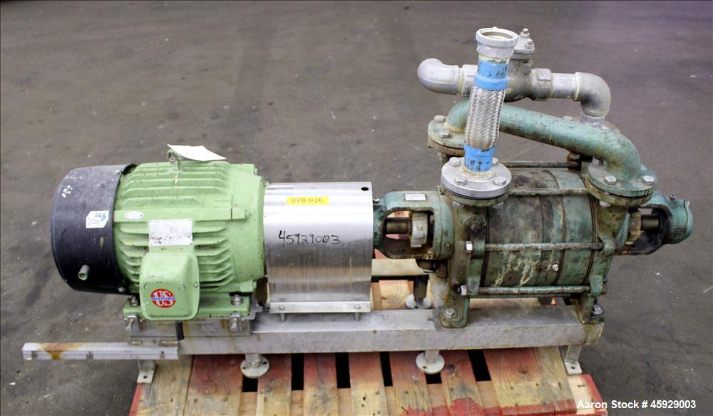 "Used- Sihi Liquid Ring Vacuum Pump, Model LPHA-5612-PN041010, Carbon Steel. 2"" inlet/outlet. 177 CFM with 20"" Hg at 1750 RPM..."