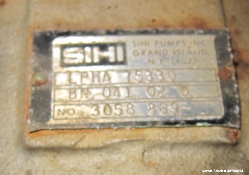 Used- Carbon Steel SIHI Vacuum Pump, Model LPHA-75880