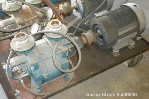 Used- Carbon Steel Sihi Liquid Ring Vacuum Pump, Model LPHB-3408