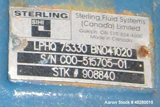 Used- Carbon Steel SIHI Vacuum Pump, Model LPHQ-75330