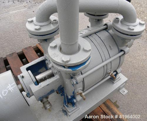 """Used- SihiLiquidRingVacuumPump,Model LPHR-55312, Carbon Steel. 2"""" inlet/outlet. Approximately185 cfm at 20"""" HG. Driven..."""