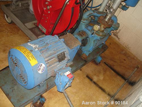 "USED: Sihi liquid ring vacuum pump, model LPHR55312, carbon steel. 2"" inlet/outlet. Approximate 130-199 cfm at 4"" to 28.9"" H..."