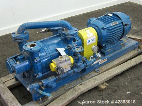 """Unused- Sihi Liquid Ring Vacuum Pump, Model LPHR55316ABADD4B4, 316 Stainless Steel. 2"""" Inlet/outlet. Approximately 228 cfm a..."""