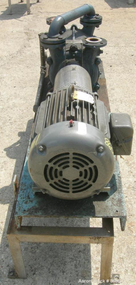 "USED: Sihi liquid ring vacuum pump, model LPHR55320, carbon steel. 2"" inlet/outlet with manifold. Approx cfm 200 at 4"" to 12..."