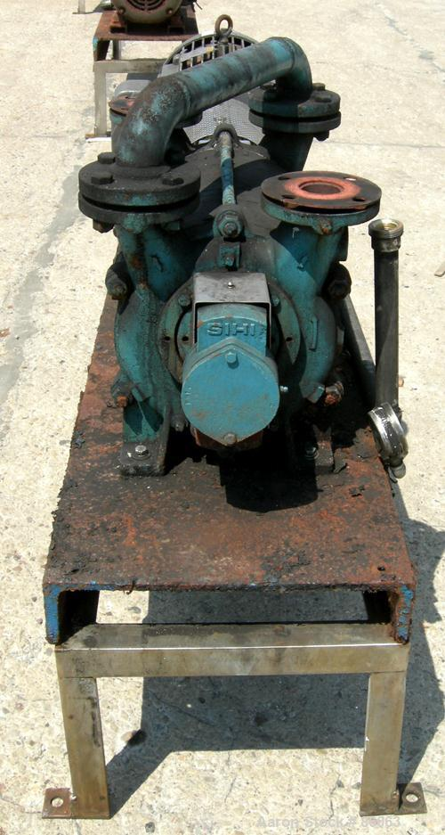 """USED: Sihi liquid ring vacuum pump, model LPHR55320, carbon steel. 2"""" inlet/outlet with manifold. Approximate cfm 200 at 4"""" ..."""