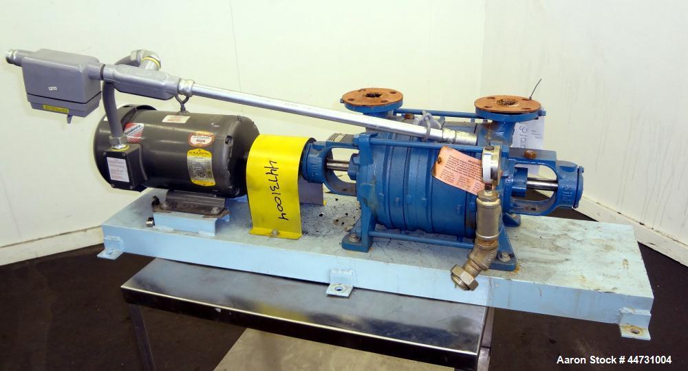 Used- Carbon Steel Sihi Liquid Ring Vacuum Pump, Model LPHY 3708 BN115012