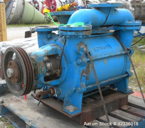 """Used- Sihi Liquid Ring Vacuum Pump, Model LPHY 70540, 316 Stainless Steel. 5"""" Inlet/outlet. Approximately 880 cfm at 4"""" HG. ..."""
