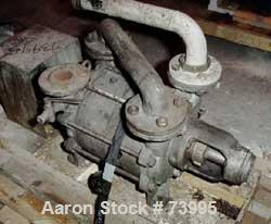 "Used- SIHI Liquid Ring Vacuum Pump, Carbon Steel. 2"" Inlet/outlet. Direct driven by a 20 hp, 3/60/230/460 volt, 1755 rpm mot..."