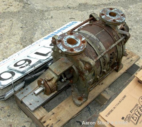 "Used- Sihi Liquid Rind Vacuum Pump, Carbon Steel. 1-1/2"" inlet/outlet. Unit requires motor and base."