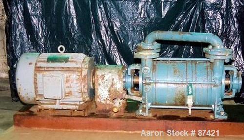 USED: SIHI vacuum pump, 2 stage, water seal, 10 hp. Mechanical shaft seal.