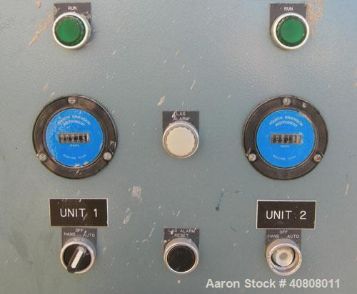 Used- Squire Cogswell Duplex Oil Total Recirculation Vacuum System, model 201-462-06-12T-216, series 201TR, carbon steel. (2...