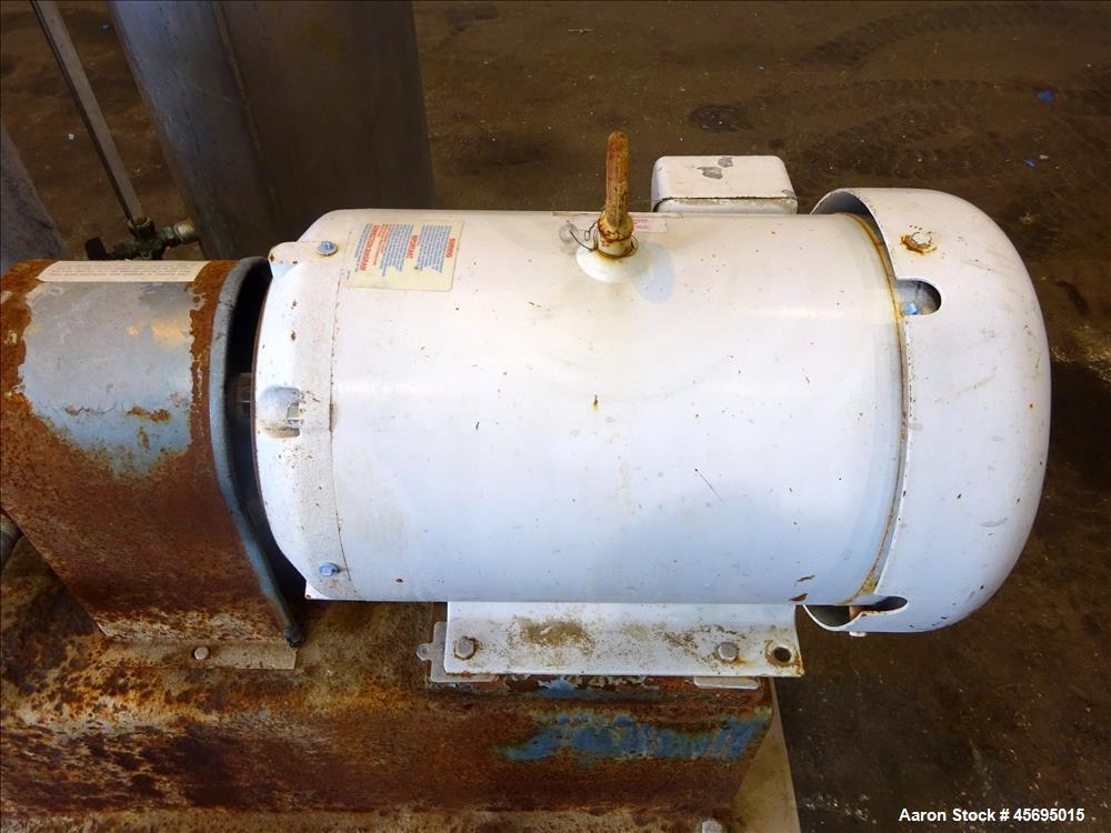 Used- Squire-Cogswell Liquid Ring Two Stage Vacuum Pump, Type P512/CH41-215A, Stainless Steel. Nominal capacity 177 Cubic fe...