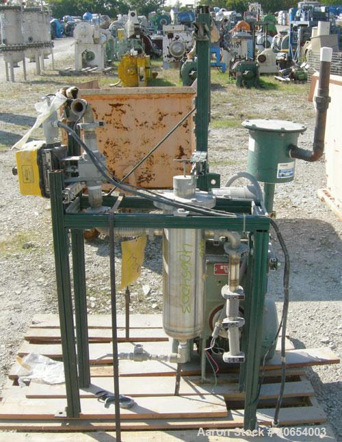 Used- Carbon Steel Stokes Microvac Rotary Piston Vacuum Pump, model 148-10