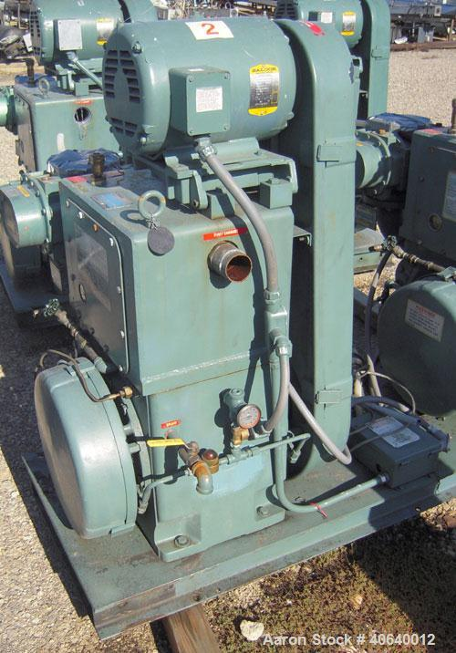 Used- Stokes Microvac Rotary Piston Vacuum Pump, model 212-11, carbon steel. Approximately 150 cfm. 3'' inlet, 2'' outlet. D...