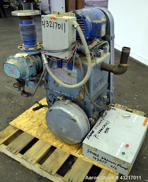 Used- Stokes Microvac Rotary Piston Vacuum Pump, Model 212-11, Lot# 79305-24, Carbon Steel. Approximate 150 cfm. Driven by a...