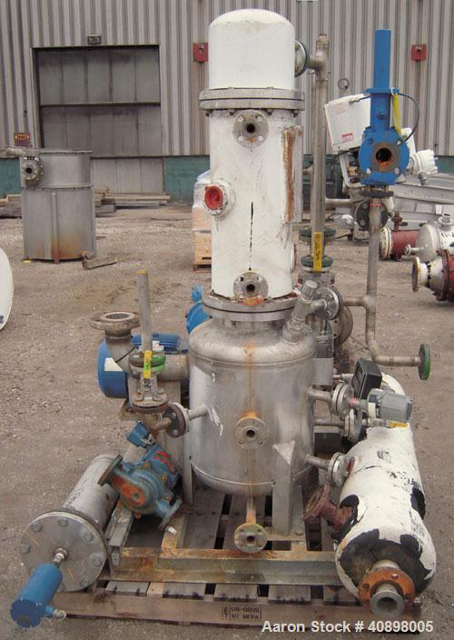 Used- Apovac System Consisting Of: (1) Sulzer Burckhardt vacuum pump, model PMSH156-D2, 316 stainless steel, driven by a 10 ...