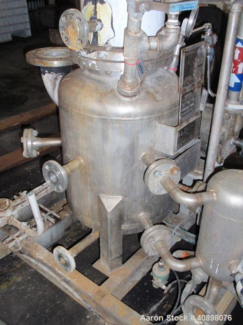 Used- Sulzer Burckhardt APOVAC Vacuum Solvent Recovery System, type APOVAC PMSH 156-D2. Stainless steel construction, rated ...