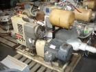 Used- Carbon Steel Busch Huckepack Two Stage, Once Through, Sealing Rotary Vane Vacuum Pump