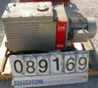 Used- Edwards Two Stage Rotary Vane Vacuum Pump, Model E2M275, Carbon Steel. Rated 172 cfm. Driven by a 6 kW (7.5 hp), 3/60/...