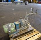 Used- Kinney Two-Stage Liquid Ring Vacuum Pump, Model KLRC 75 KFA, Carbon Steel. Approximate 75 CFM at 1750 rpm. Driven by a...