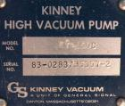 Used- Kinney Rotary Piston, Oil Sealed, Vacuum Pump, Model KT-150C, Carbon Steel. Approximately 150 cfm at 1055 rpm. 3