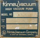 Used- Kinney Rotary Piston Vacuum Pump, model KTC-112. Approximately 107 cfm at 1055 rpm. 2
