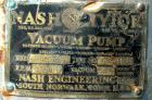 USED: Nash Hytor liquid ring vacuum pump, model AL574, carbon steel. Approx capacity 30 cfm at 21
