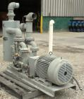 Used- Dekker Vacuum Technologies AquaSeal Water-Sealed Liquid Ring Vacuum Pump System, model DVW0553KMN1-01, carbon steel. S...