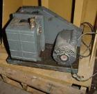 USED- Welch Duoseal Vacuum Pump, Model 1402. 2 stage rotary vane. Approximately 5.6 CFM. 1