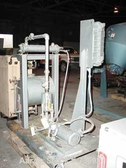 Used- Vacuum Pump System Consisting Of: (1) Travaini liquid ring vacuum pump, carbon steel, model PLT3203/5/GH, rated approx...