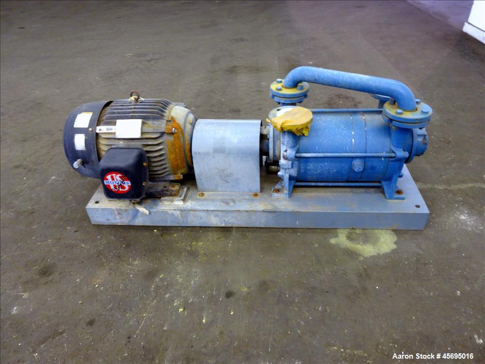 Used- Travaini Liquid Ring Two Stage High Vacuum Pump, Model TRHB 50-420/C/A3, 3