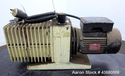 Used- Varian Dual Stage Rotary Vane Vacuum Pump, Model SD-700, Part# 0424-P1241-301, Carbon Steel. Approximate 24 cfm. Drive...