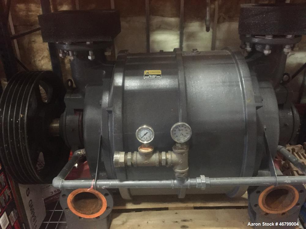 Used-Vooner Vacuum Pump, Model VG20A-M (Equivalent to a Nash CL-2002). Cast iron.  Test date: 8-2-2005. s/n 2413