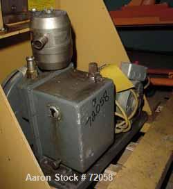 """USED- Welch Duoseal Vacuum Pump, Model 1042. 2 stage rotary vane. Approximately 5.6 CFM. 1"""" inlet/outlet. Driven by a 1/2 HP..."""