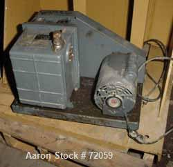 """USED- Welch Duoseal Vacuum Pump, Model 1402. 2 stage rotary vane. Approximately 5.6 CFM. 1"""" inlet/outlet. Driven by a 1/2 HP..."""
