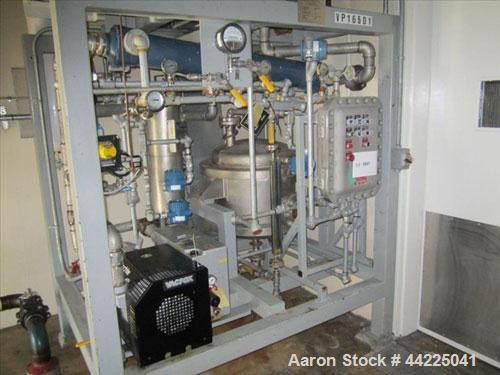 Used- Wintek Vacuum Skid, Model K08-VC200-C/40/R30. Rated 60 ACFM at 5 Torr. 7.5 HP. With Rietschle VC200 vacuum pump, .05/1...