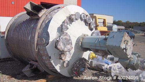"Used- Alloy Fab Reactor, 2000 Gallon, Hastelloy C, Vertical. 78"" diameter x 84"" straight side, dished top and bottom. Intern..."