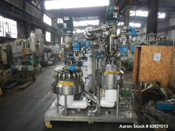 Used- Kilo Lab Reactor System Consisting Of: (1) 10 gallon Pfaudler Glass Lined Reactor (1) 10 Gallon Hastelloy DCI Reactor