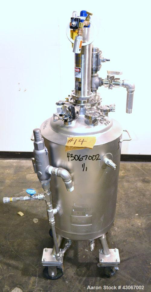 Used- Alloy Products Reactor, 10 Gallon, Hastelloy C-22, Vertical. Approximately 12'' diameter x 21'' straight side, dished ...