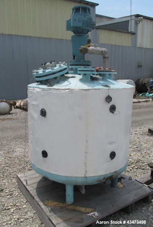 """Used- Baeurle & Morris Reactor, 200 Gallon, Hastelloy C276, Vertical. Approximately 42"""" diameter x 33"""" straight side, dish t..."""