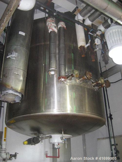 """Used- Feldmeier Reactor, 2500 Gallon, Hastelloy C22, Vertical. 71-3/4"""" diameter x 143"""" straight side, dished top and bottom...."""
