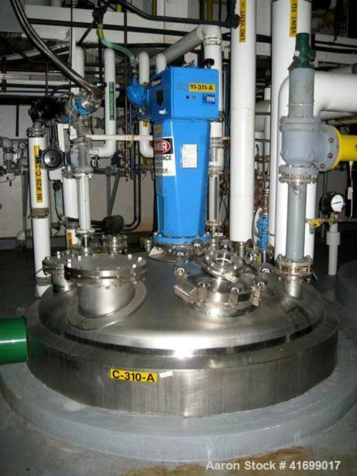 "Used- Feldmeier Reactor, 2000 Gallon, Hastelloy C22, vertical. 78"" diameter x 100"" straight side, dished top and bottom. Int..."