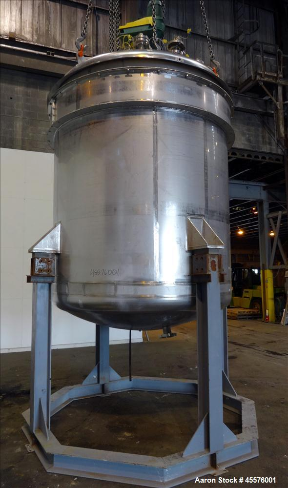 Used- 2056 Gallon Vertical Nickel Reactor/Mix Tank, Model 14SP1