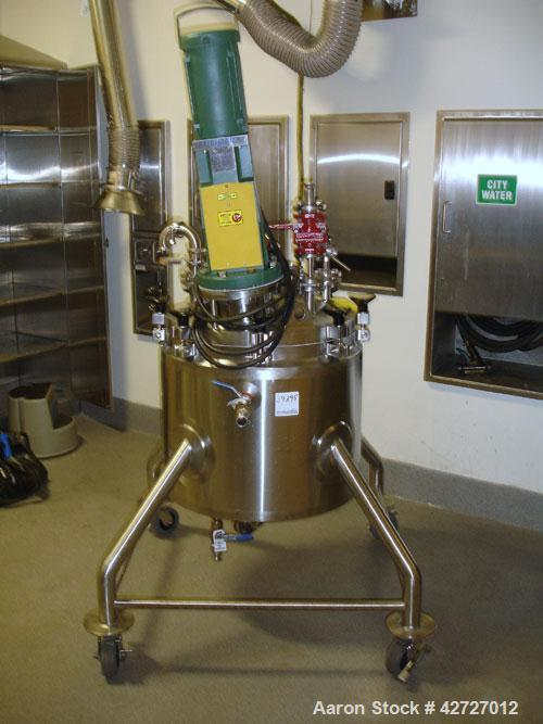 """Used- Lee Industries Reactor, 30 Gallon, Model 30 U, Hastelloy C22. 24"""" Diameter x 18"""" straight side, removable dish top, di..."""