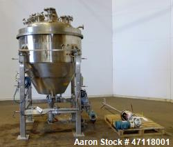 Used- Feldmeier Reactor, 250 Gallon, Hastelloy C-276, Vertical.