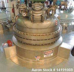 Used- 300 Gallon Precision Stainless Inc. C-22 Hastelloy Reactor. Vessel Mawp 100psi at 482f. 316l stainless steel jacket ma...