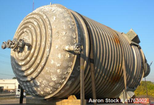 Used- Mueller Reactor, 3000 Gallon, Model F, Hastelloy C-276, Vertical. 84'' diameter x 111'' straight side, 2 to 1 elliptic...