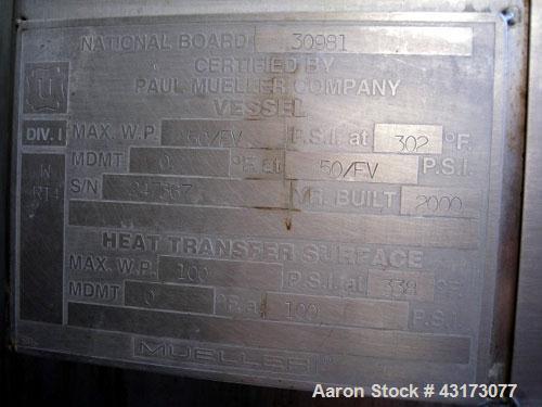 Used- 2500 Liter Hastelloy C276 Paul Muller Reactor