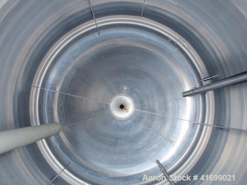 "Used- Reactor, 1500 Gallon, Hastelloy C22, vertical. 78"" diameter x 76"" straight side, dished top, slight coned bottom. (3) ..."