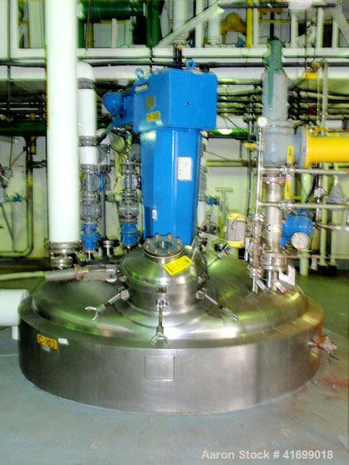 """Used- Northland Stainless Reactor, 3000 gallon, Hastelloy C22, vertical. 80"""" diameter x 138"""" straight side, dished top and b..."""